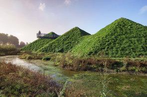 Zelené muzeum v Nizozemsku: Biesbosch Museum Island připomíná Hobitín z Pána prstenů