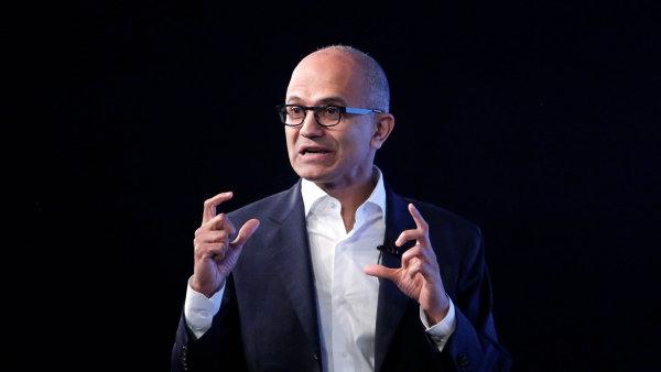 Výkonný ředitel společnosti Microsoft Satya Nadella.