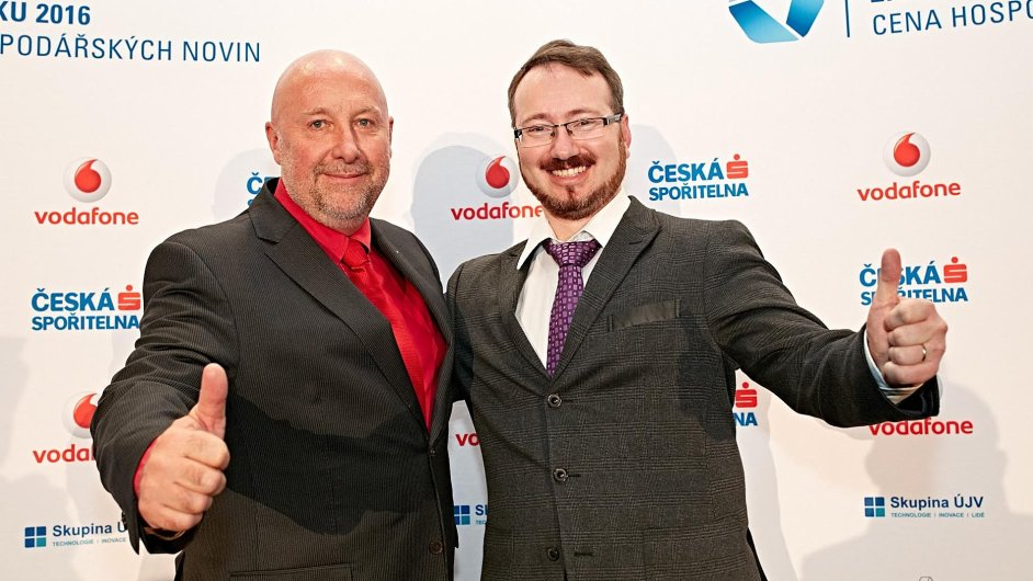 Člen představenstva CeWe Color Libor Rambousek (vlevo) a stavební projektant Martin Perlík.