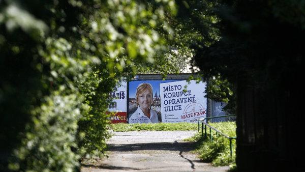 Předvolební kampaň Jany Plamínkové v roce 2014.