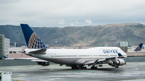 Boeing 747 společnosti United Airlines - Ilustrační foto.
