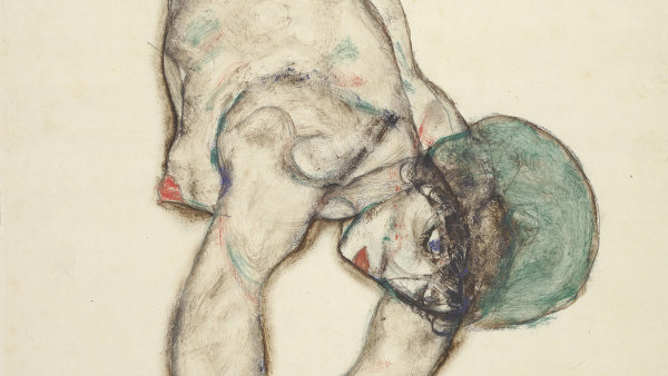 Egon Schiele: Female nude with green cap, 1914