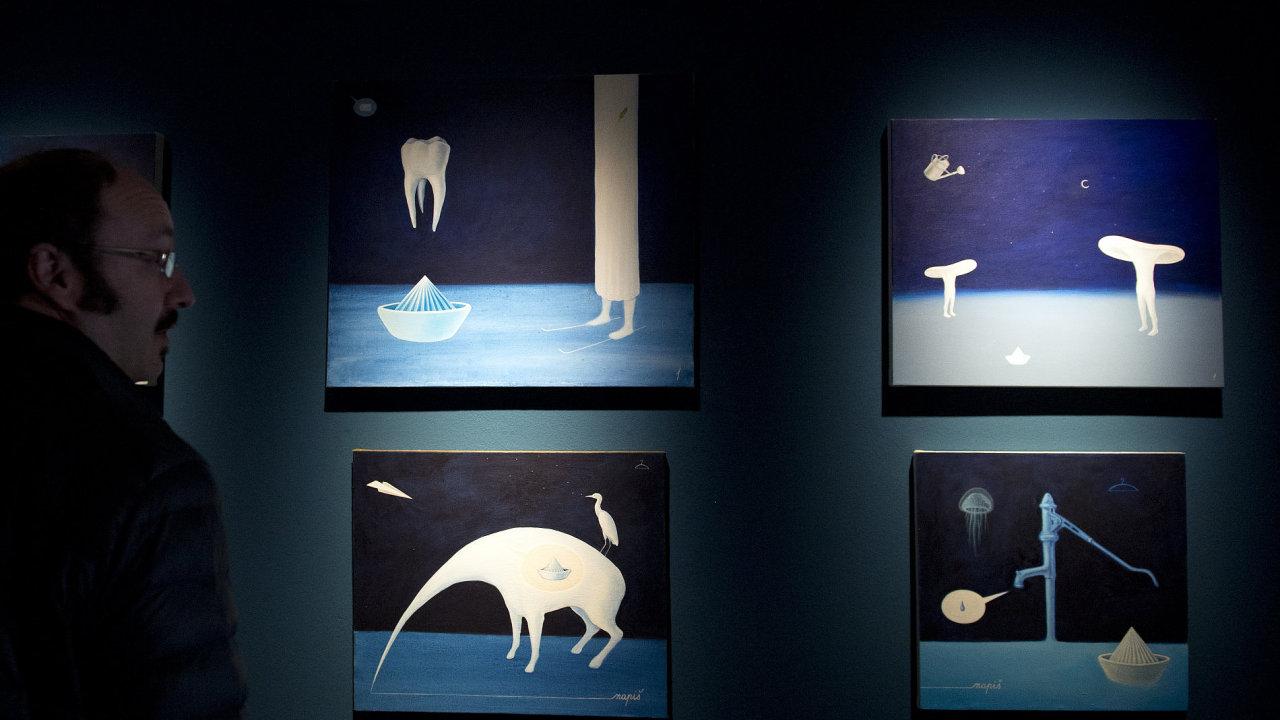 Snímek z výstavy Tima v galerii Pro arte.