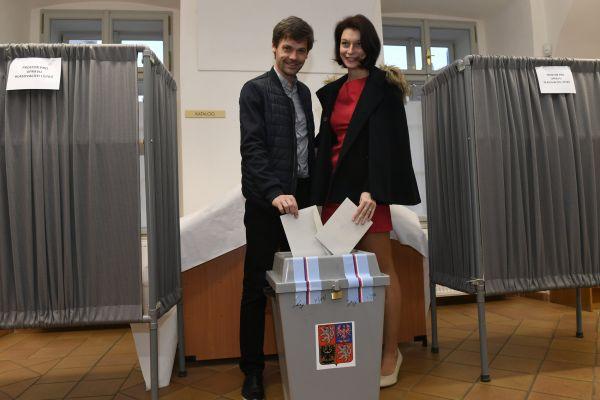 Neúspěšný kandidát na prezidenta Marek Hilšer volil 26. ledna v Praze ve druhém kole prezidentské volby.