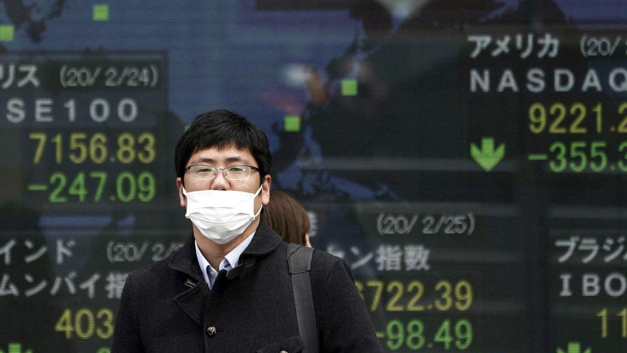 Burzy padají. Světové akciové trhy kvůli šíření nového koronaviru hlásícitelné ztráty.