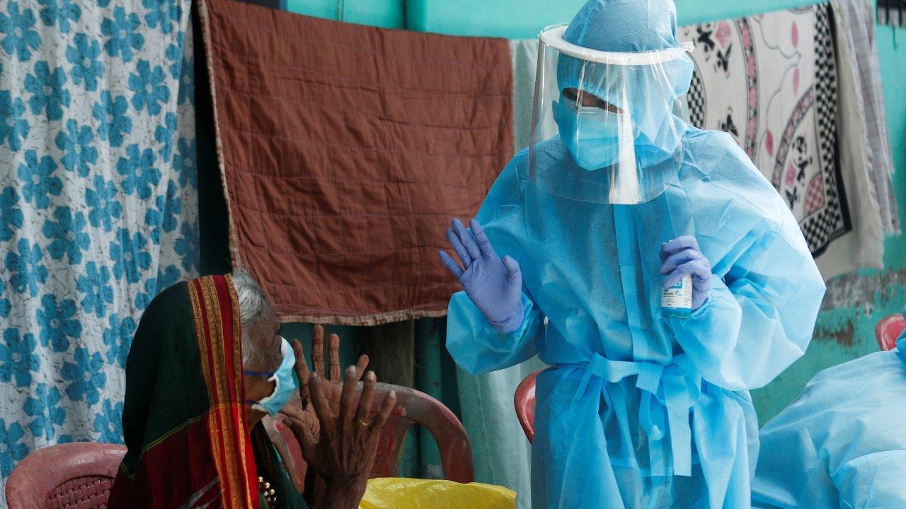 Dharavi Bombaj Indie koronavirus