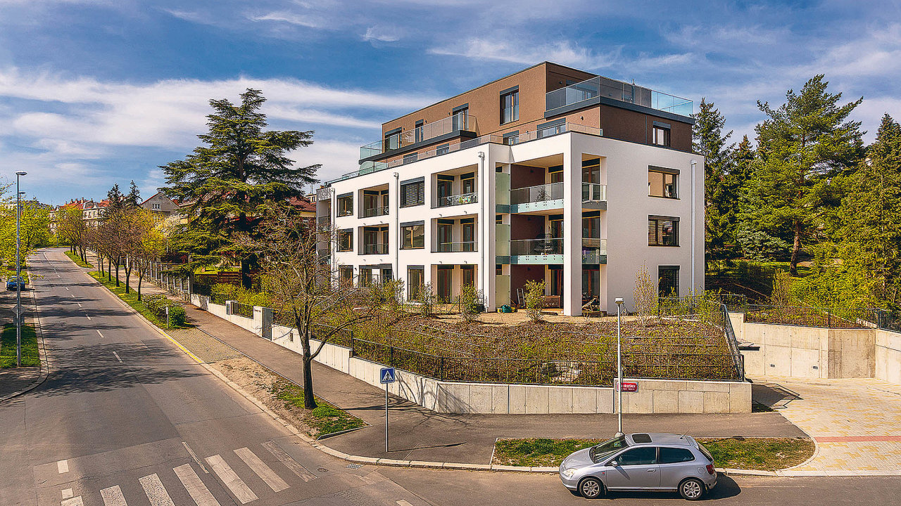 Energeticky pasivní bytový projekt Rezidence Červený dvůr v Praze