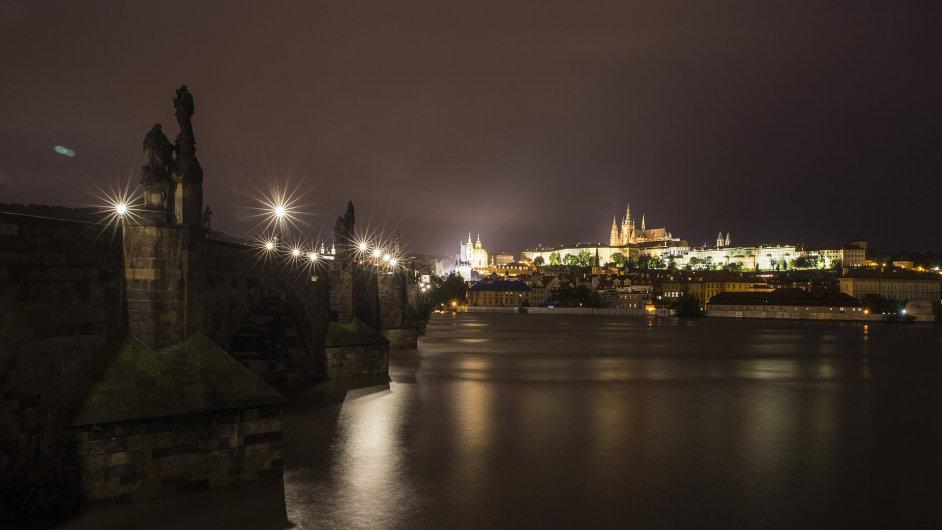 Praha v noci z pondělí na úterý