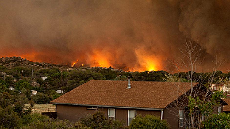 Požár v arizonském Yarnellu