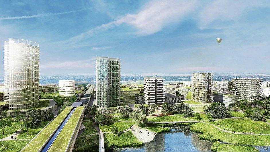 Nová vídeňská čtvrť Seestadt Aspern vyrůstá na místě bývalého letiště.