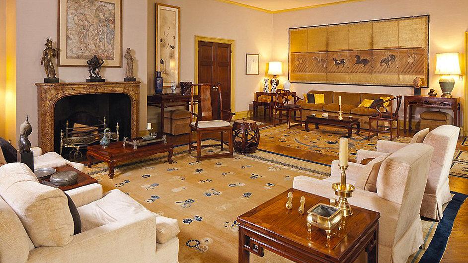 Snímek z Ellsworthova bytu, odkud dražené umění pochází.