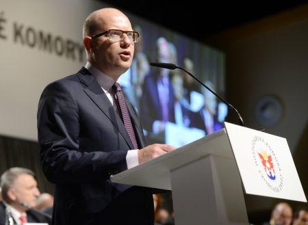 Bohuslav Sobotka na sněmu Hospodářské komory