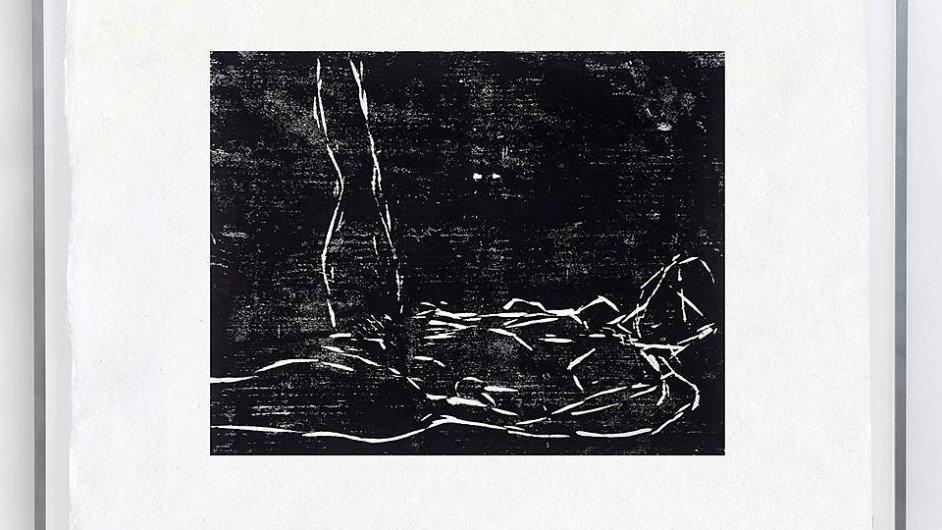 Dřevorytu Crane od Tracey Eminové se na Art Baselu prodávalo 50 kusů.