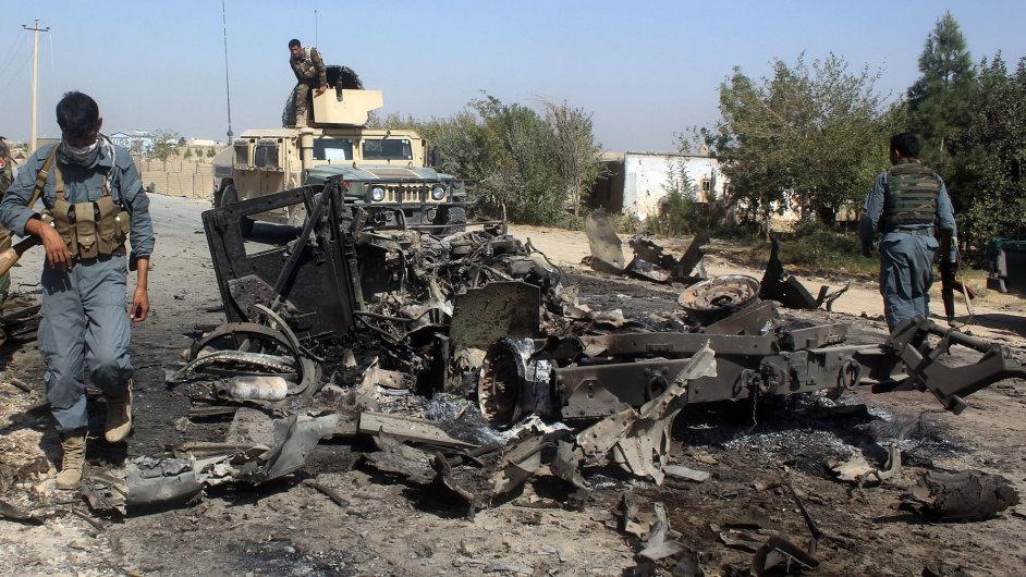 Afghanistán boje taliban
