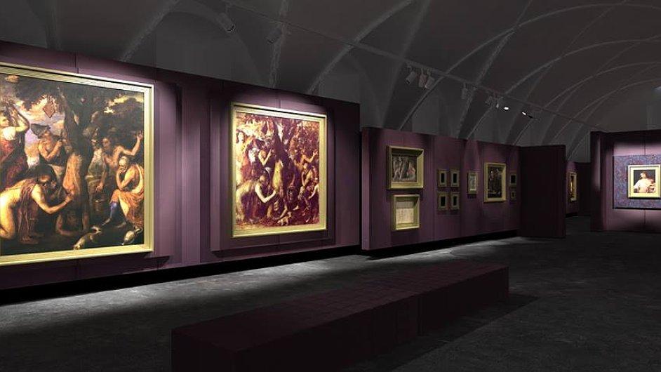Snímek z výstavy Tiziana v Císařské konírně.