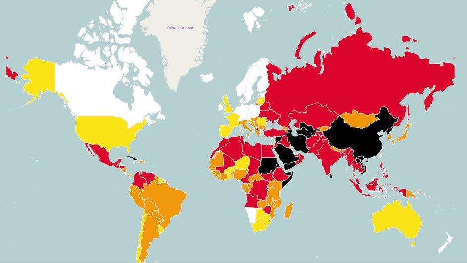 Svoboda médií ve světě podle World Press Freedom Index 2015