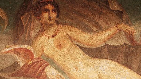 Domy v Pompej�ch jsou vyzdoben� n�dhern�mi freskami, �ada z nich obsahuje erotick� �i pornografick� motivy.