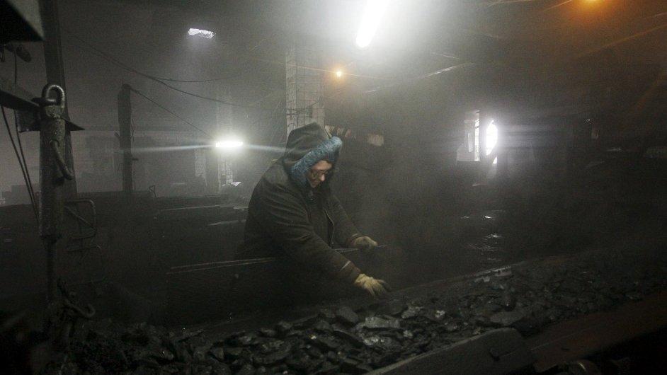 Důl na Ukrajině Donětsk