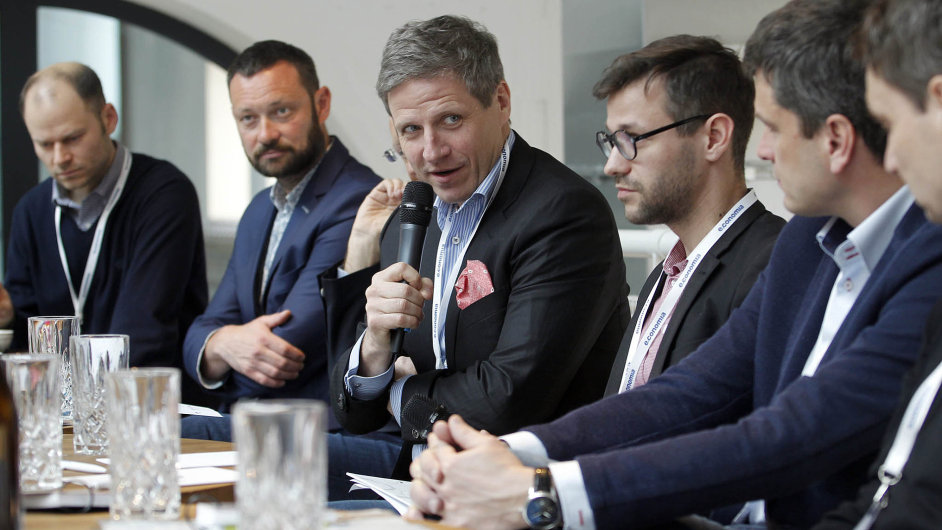 Konference Návrat ke kořenům aneb Jak vrátit národu podnikavého ducha Tomáše Bati. Na snímku Martin Wichterle