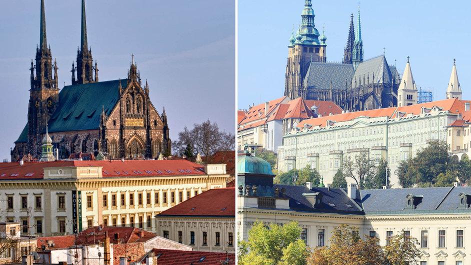 Brno vs. Praha. Kde se žije lépe?