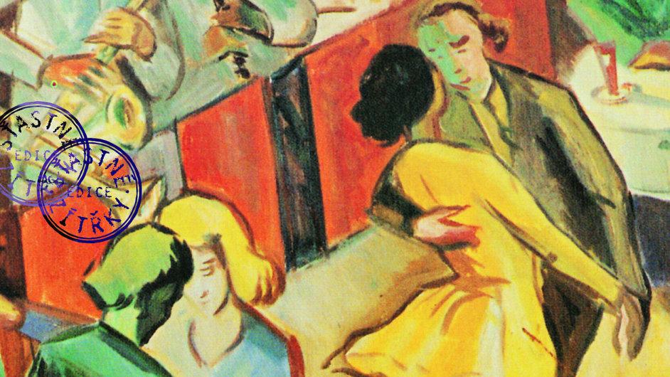 Na snímku je detail z obalu knihy Swingaři a potápky v protektorátní noci.