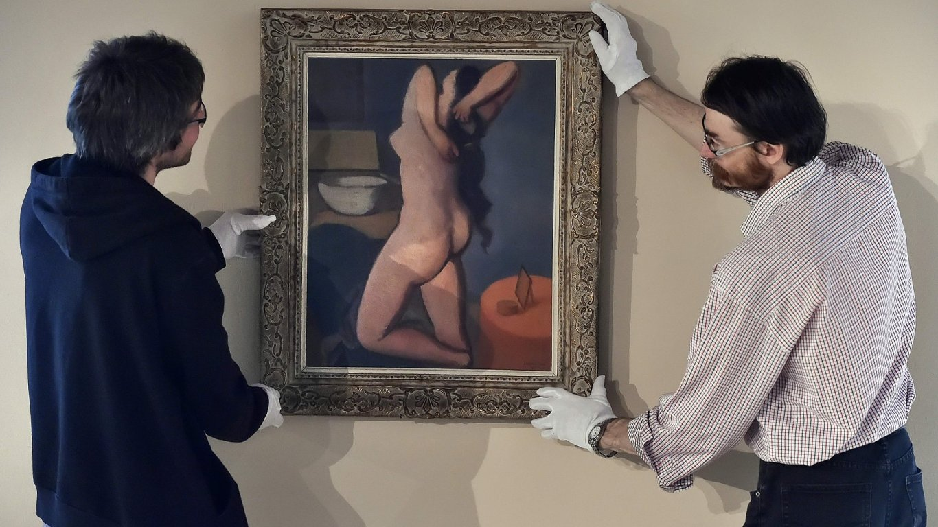 Snímek z výstavy Rudolfa Kremličky