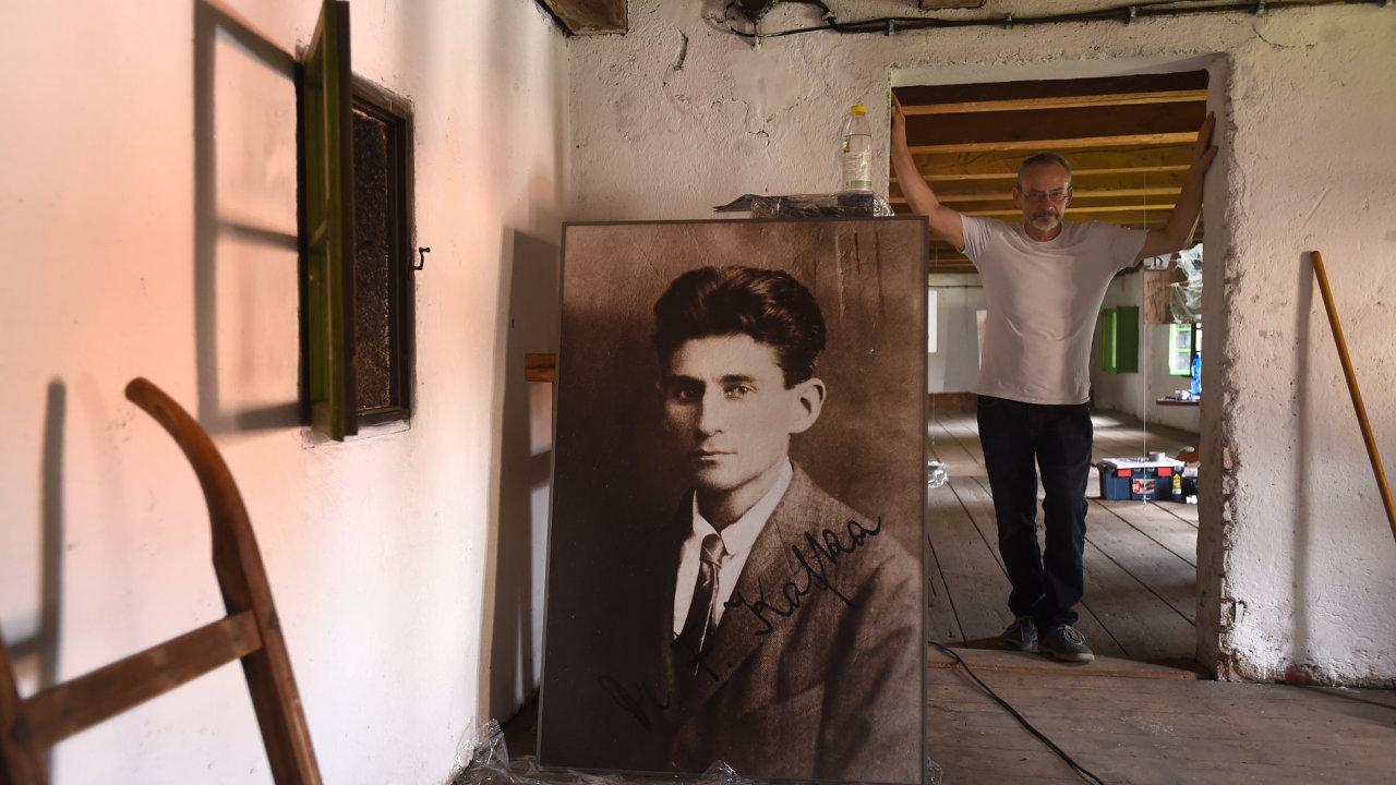 Snímek z nové expozice věnované Franzi Kafkovi v Siřemi na Žatecku.