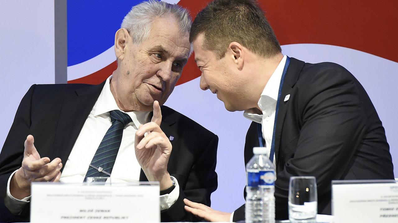 Sjezd SPD, Miloš Zeman, Tomio Okamura