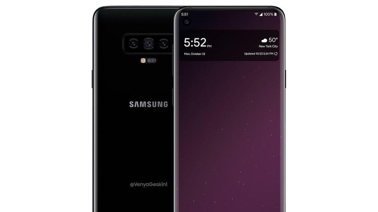 Odhad vzhledu Galaxy S10