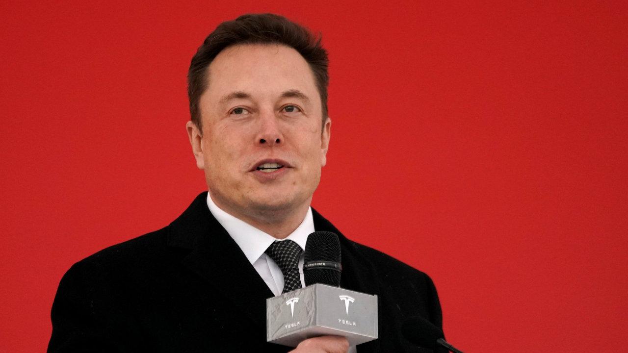 Generální ředitel Tesly Elon Musk v Číně.