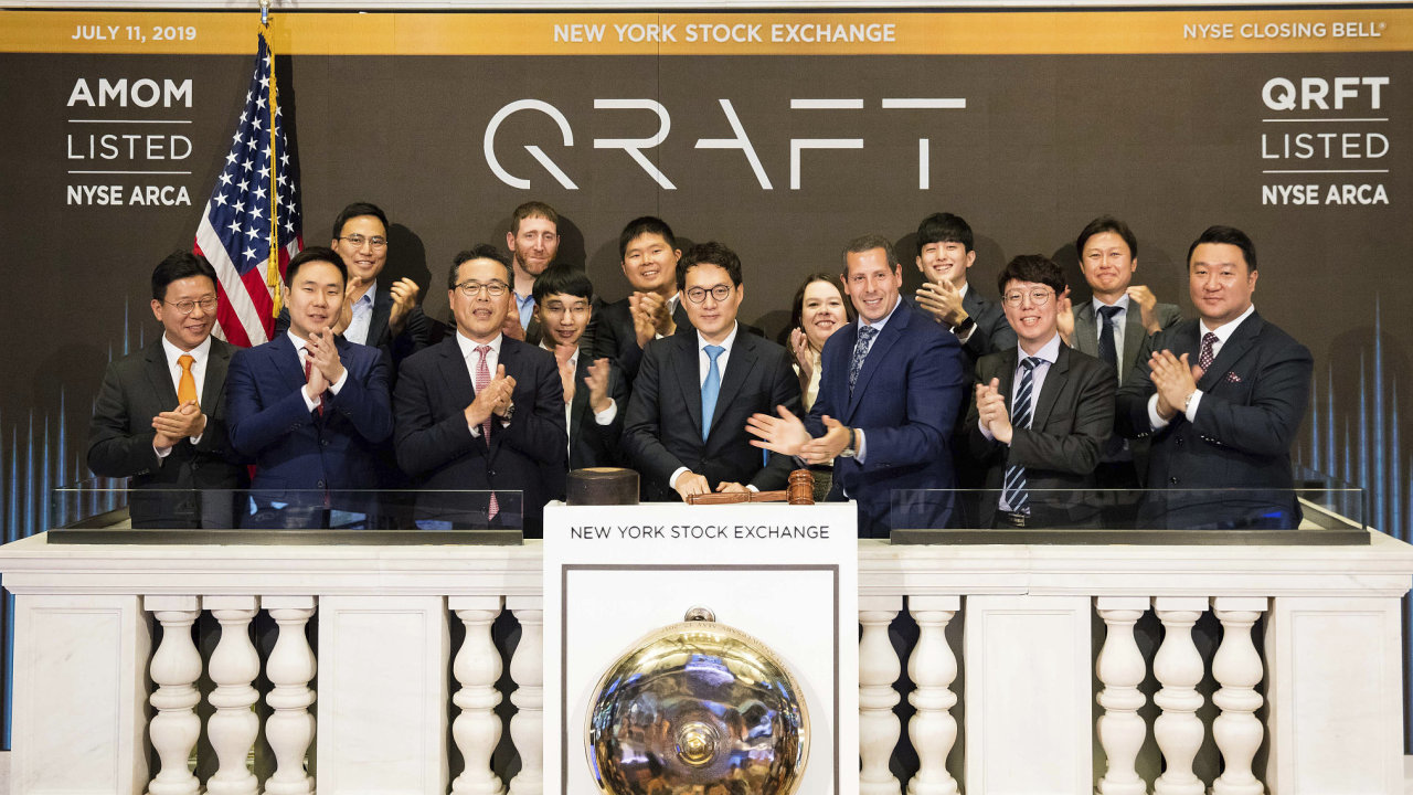 Closing bell na americké burze New York Stock Exchange.