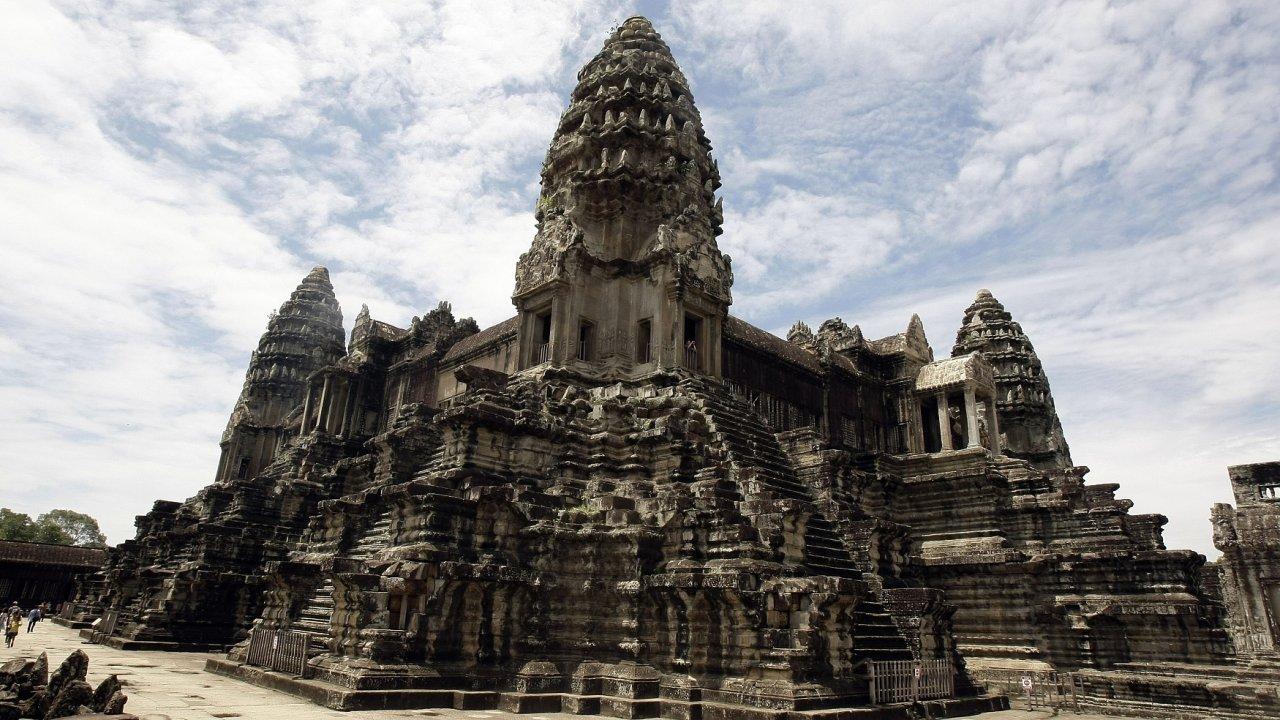 Chrámový komplex Angkor Wat v Kambodži