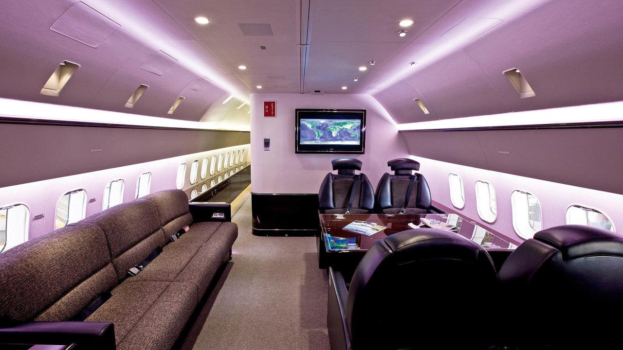 Soukromé letadlo je jako luxusnější taxi.