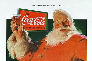 Legendární limonáda dala podobu symbolu amerických Vánoc. Veselý tlouštík v červeném se poprvé objevil na reklamních plakátech v roce 1931.