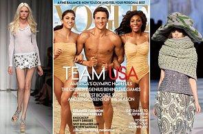 From Left: model Vlada Roslyakova in her superskinny heyday; Vogue's athletes cover; Ondria Hardin at Marc Jacobs