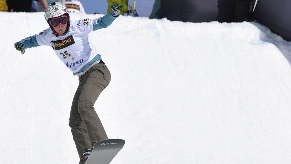 Česká snowboardcrossařka Eva Samková se o víkendu v Montafonu po zranění vrátila do kolotoče Světového poháru