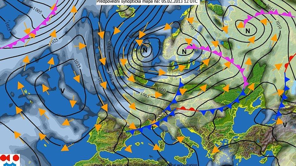 České počasí je ovlivněno směrem, z kterého k nám právě přichází vzdušné proudění.