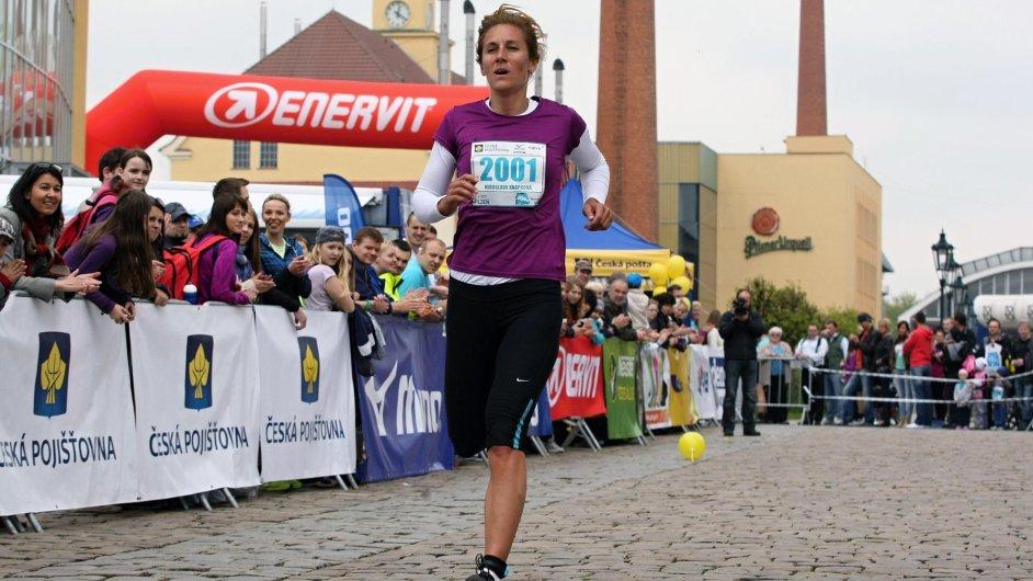 Mirka Knapková během závodu Run Tour