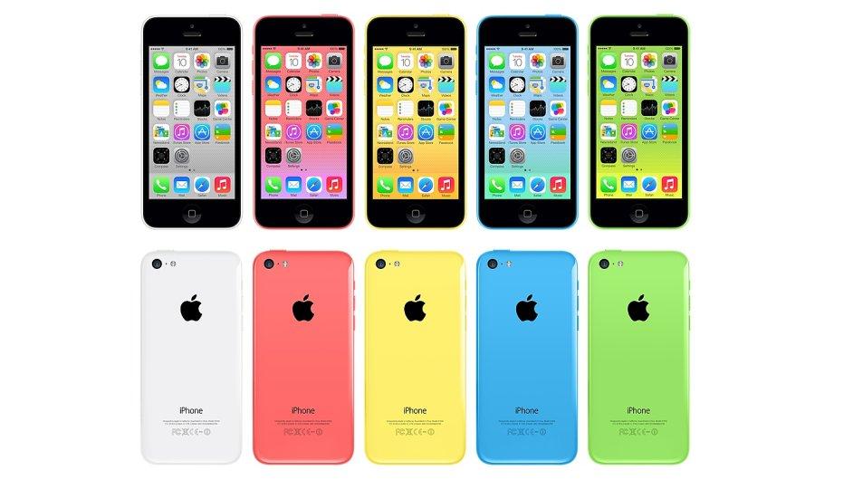 Barevný plastový iPhone 5C