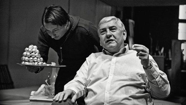 Miroslav Donutil při zkoušce hry Amadeus v Divadle Husa na provázku.