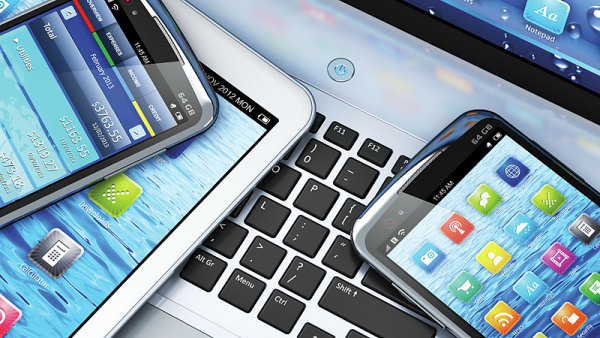 Telekomunikace, mobiln� telefon - ilustra�n� obr�zek