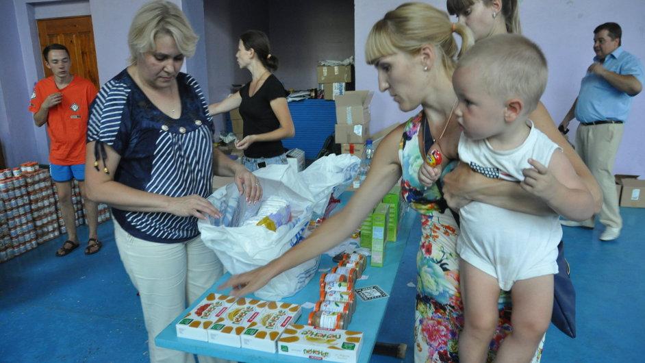 Distribuce léků a potravin ukrajinským uprchlíkům