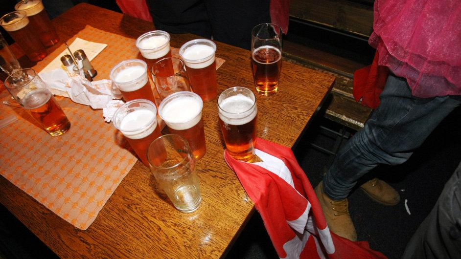 Piva dánských fanoušků