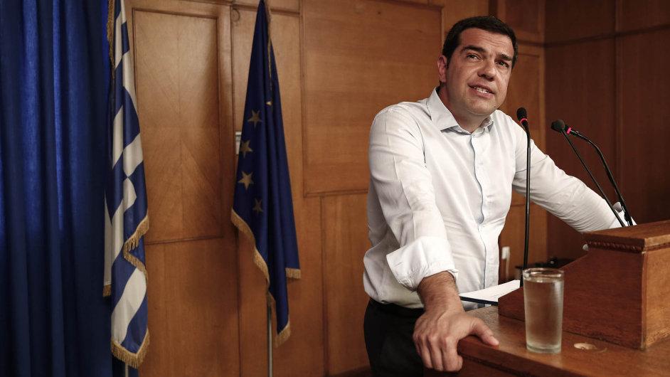Alexis Tsipras neskrývá nadšení nad tím, že je Řecko blízko dosažení dohody o podmínkách poskytnutí třetího záchranného programu.