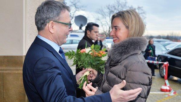 Setkání Zaorálka s Mogheriniovou