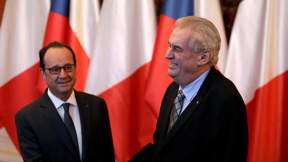 Francois Hollande na návštěvě v Praze