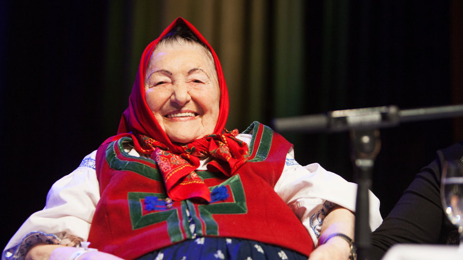 Folklorní zpěvačka Jarmila Šuláková