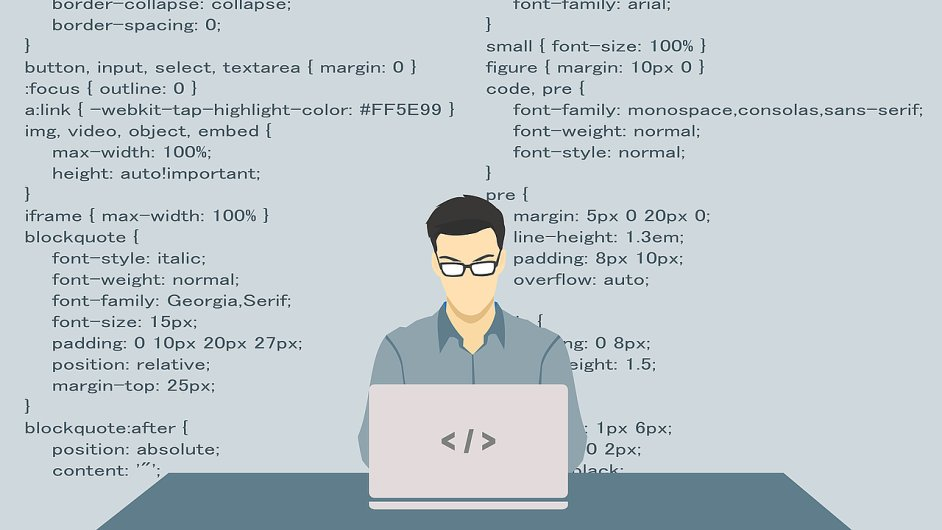 Programátor, IT specialista, ilustrace