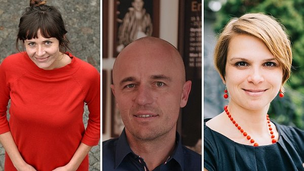 Zleva Petra Šubrtová, Tibor Alföldi, Barbora Žehanová
