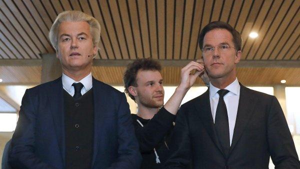 Geert Wilders (vlevo) a Mark Rutte.